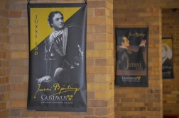Posters for the BET Star adorn the recital hall named in his honor.