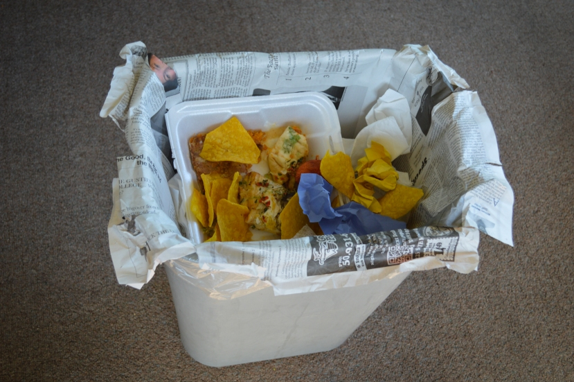 Worried about dirtying your precious garbage bags with all that trash? Line your receptacles with a few 'Weeklys' and avoid the ew!